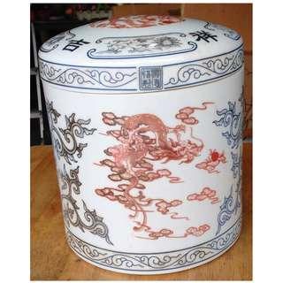 Authentic Oriental Dragon Ceramic Jar