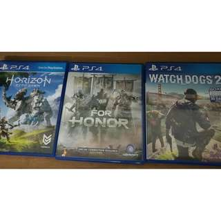 ps4 games [second hand]