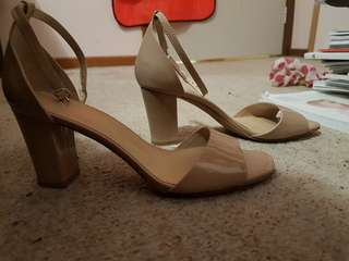 Creme Jo mercer heals wedding formal size 7