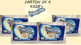 Mamypoko diaper tape carton sales