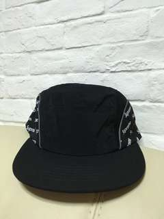 Supreme Agonal logo side panel camp cap black