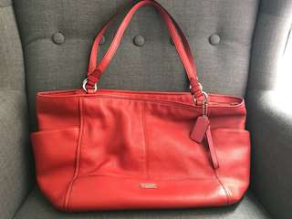 Coach Red LeatherHandbag