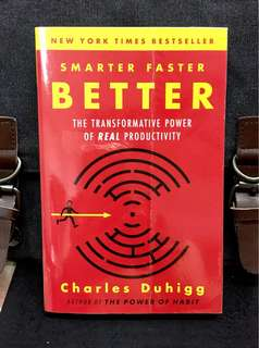 # Highly Recommended《Preloved Paperback + TED Talks Speaker + Explore The Secrets of Being Productive in Life and Business》Charles Duhigg - SMARTER FASTER BETTER : The Transformative Power Of Real Productivity