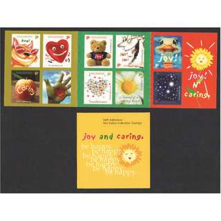 SINGAPORE 2003 GREETINGS STAMPS JOY & CARING BOOKLET OF 10 STAMPS SC#1060 IN MINT MNH UNUSED CONDITION