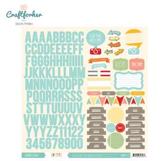 🚚 ♥Stickers♥ Alphabet, Icon & Phrases Cardstock Stickers 143pcs