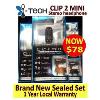 i.tech Clip 2 mini music edition with stereo headphone (1year warranty)