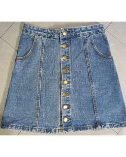 REPRICED!!! Button-down Denim Skirt