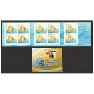 SINGAPORE 2003 TROPICAL MARINE FISHES 2ND REPRINT (WORLD STAMP CHAMPIONSHIP 2004) BOOKLET OF 10 STAMPS IN MINT MNH UNUSED CONDITION