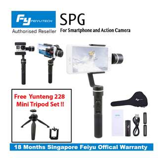 Feiyu FY SPG SplashProof Handheld 3 axis Gimbal Stabilizer for Smartphone /Action Camera