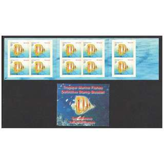 SINGAPORE 2004 TROPICAL MARINE FISHES 4TH REPRINT 1ST LOCAL BOOKLET OF 10 STAMPS IN MINT MNH UNUSED CONDITION
