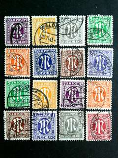 German vintage stamps#3