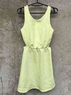 Pull & Bear yellow cutout dress