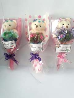 Happy teacher's day bear flower gift set