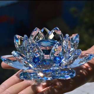 Crystal Lotus Flower Decorative Fengshui Ornament