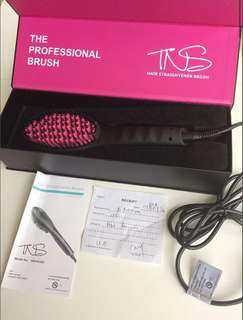 TNS hair straightener hair brush