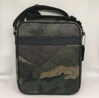 Coach Flight Bag Camo Green Army