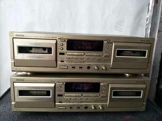Denon Precision Audio Component / Double Cassette Deck (2 pcs) @$80 Each@A1/1