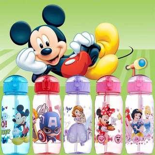 Disney Kids Water Bottles | Straw Bottle