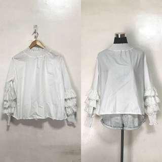 Plus Size White Long Sleeves
