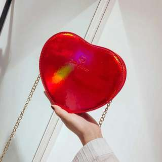 heart hologram bag