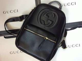 GUCCI LEATHER BAG PACK AUTHENTIC QUALITY