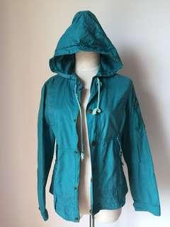 Turquoise Hooded Jacket