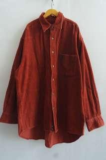 Kemeja corduroy ( merah )