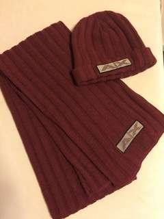 Armani Exchange 頸巾連冷帽