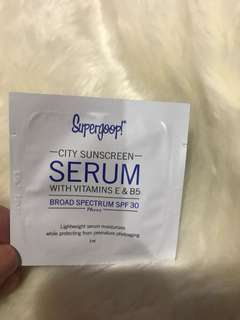 SUPERGOOP SERUM CITY SUNSCREEN