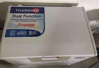 Affordable almost new Fujidenzo chest Freezer less than 10k in quezon city with warranty card