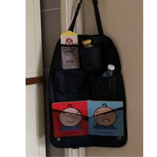 Car bag organizer for kids