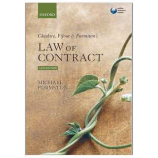 Cheshire, Fifoot & Furmston's Law of Contract 16th Edition CFF