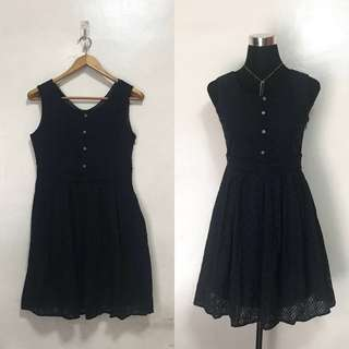 Navy Blue Sleeveless Sunday Dress