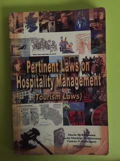 Pertinent Laws on Hospitality Management (Tourism Laws)