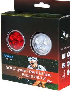 (427)PAGAO Super Bright Bike Light Set,USB Rechargeable Front and Rear LED Bicycle Lights Set, Bicycle Headlight and Warning Taillight Easy To Install for Kids Men Women Road Cycling Safety Flashlight