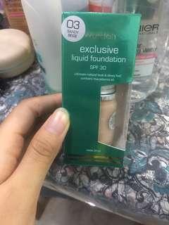 Wardah Exclusive Liquid Foundation Shade 03 Sandy Beige