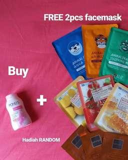 GRATIS 2pcs facemask dg membeli 1pcs Ponds Thailand Angel Face Pinkish