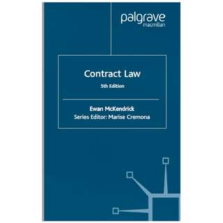 Contract Law 5th Edition McKendrick