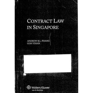 Contract Law in Singapore Small Phang