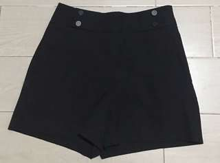 Zara Buttoned High Waist Shorts