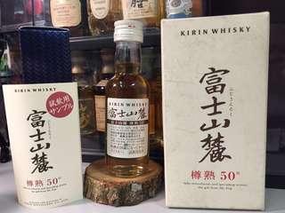 絕版 罕有 Kirin Whisky 富士山麓 樽熟50度 50ml 酒辦