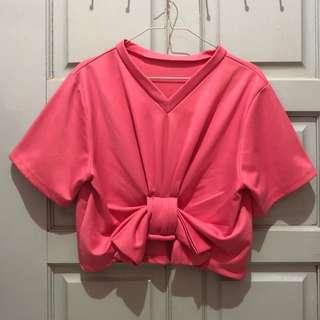 Bow top pita pink