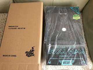 Hottoys 1/6 diecast Neon Tech Ironman Mark iv limited edition
