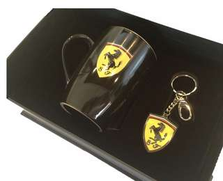 Ferrari Cup and Keyring (Black)