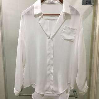 降價❗️starmimi 質感白系雪紡襯衫