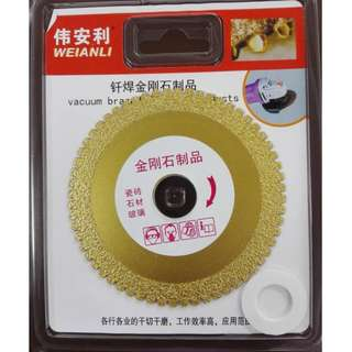 "Sharp Vacuum Brazed Diamond Saw Blade 4"" for Angle Grinder"