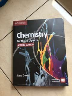 NEW Chemistry IB DP - Textbook by Steve Owen 2nd Edition