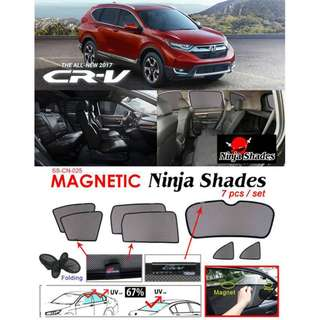 Honda CR-V 2017 ~ 2018 Magnetic Ninja Sun Shade (7pcs/set) Premium Quality