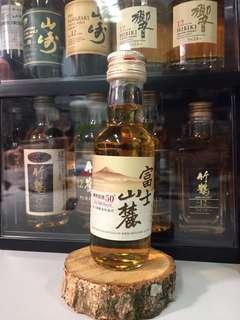 絕版 罕有 Kirin Whisky 富士山麓 樽熟原酒50度 50ml 酒辦