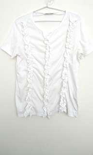 Zara trafaluc white t-shirt
